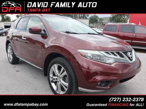 2011 Nissan Murano for sale at David Family Auto in New Port Richey FL