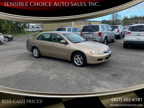 2006 Honda Accord for sale at Sensible Choice Auto Sales, Inc. in Longwood FL
