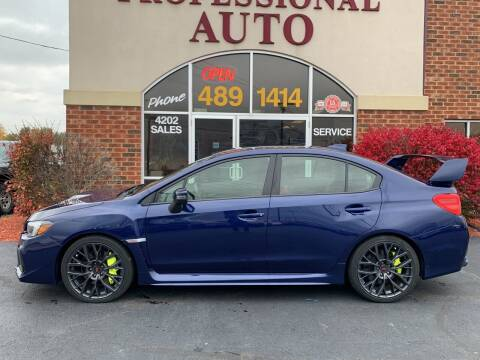 2019 Subaru WRX for sale at Professional Auto Sales & Service in Fort Wayne IN