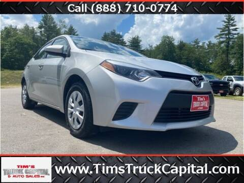 2015 Toyota Corolla for sale at TTC AUTO OUTLET/TIM'S TRUCK CAPITAL & AUTO SALES INC ANNEX in Epsom NH