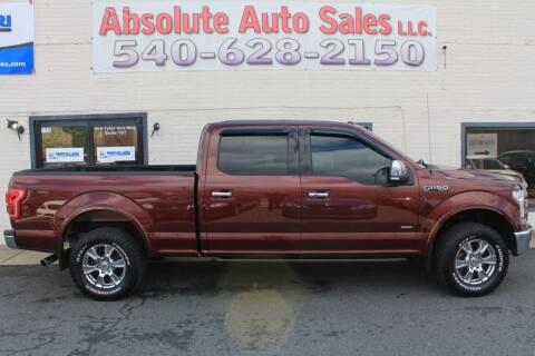2016 Ford F-150 for sale at Absolute Auto Sales in Fredericksburg VA