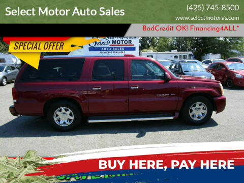 2005 Cadillac Escalade ESV for sale at Select Motor Auto Sales in Lynnwood WA