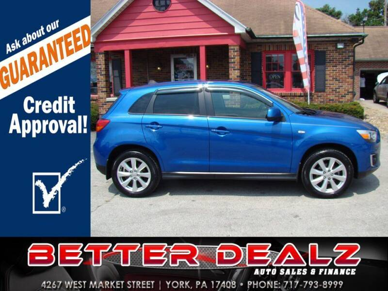 2015 Mitsubishi Outlander Sport for sale at Better Dealz Auto Sales & Finance in York PA