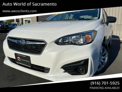 2019 Subaru Impreza for sale at Auto World of Sacramento Stockton Blvd in Sacramento CA