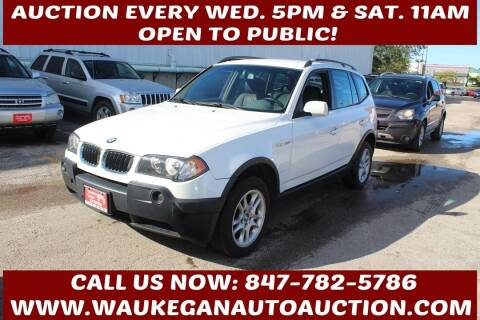 2004 BMW X3 for sale at Waukegan Auto Auction in Waukegan IL