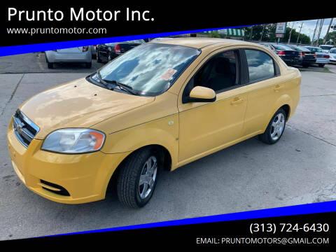 2008 Chevrolet Aveo for sale at Prunto Motor Inc. in Dearborn MI