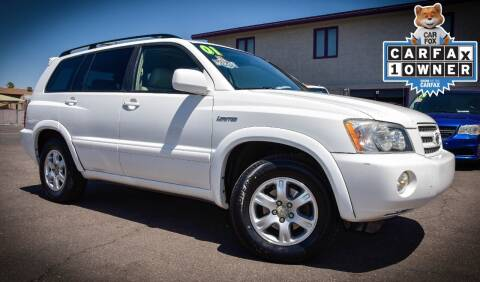 2001 Toyota Highlander for sale at Rahimi Automotive Group in Yuma AZ