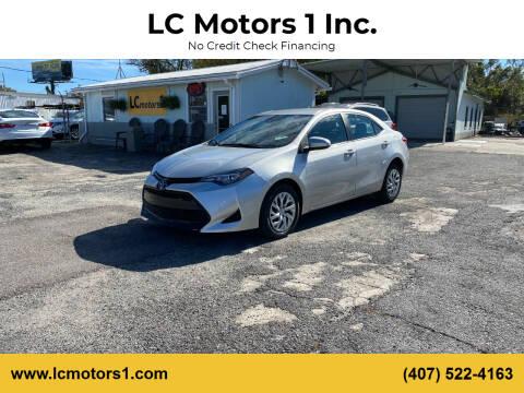 2019 Toyota Corolla for sale at LC Motors 1 Inc. in Orlando FL