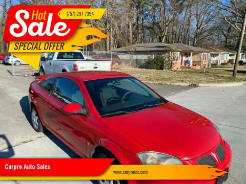 2007 Pontiac G5 for sale at Carpro Auto Sales in Chesapeake VA