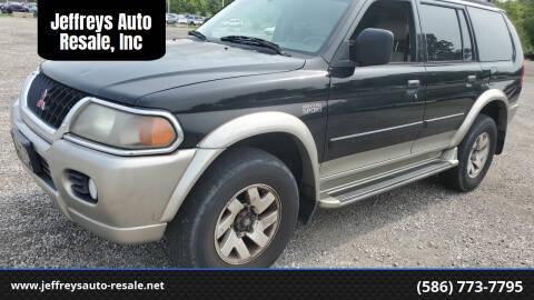 2000 Mitsubishi Montero Sport for sale at Jeffreys Auto Resale, Inc in Clinton Township MI