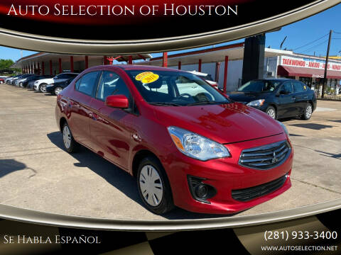 2018 Mitsubishi Mirage G4 for sale at Auto Selection of Houston in Houston TX