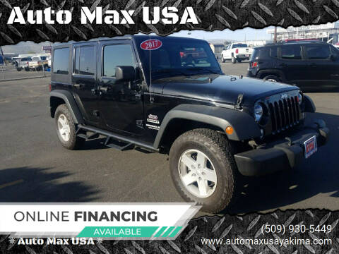 2017 Jeep Wrangler Unlimited for sale at Auto Max USA in Yakima WA