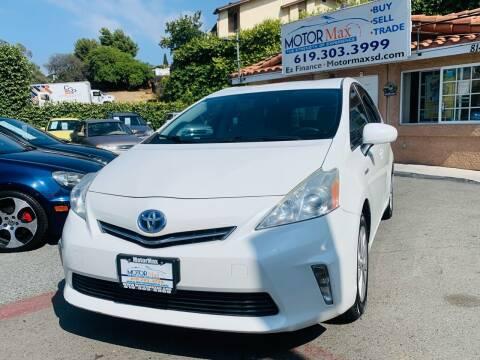 2012 Toyota Prius v for sale at MotorMax in Lemon Grove CA