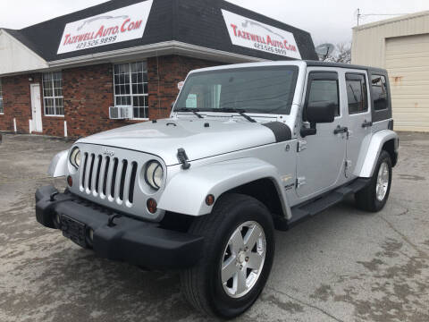 2009 Jeep Wrangler Unlimited for sale at tazewellauto.com in Tazewell TN