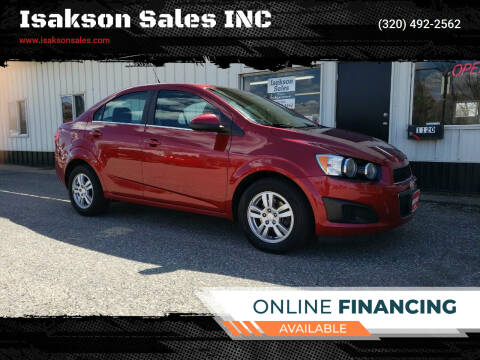 2013 Chevrolet Sonic for sale at Isakson Sales INC in Waite Park MN