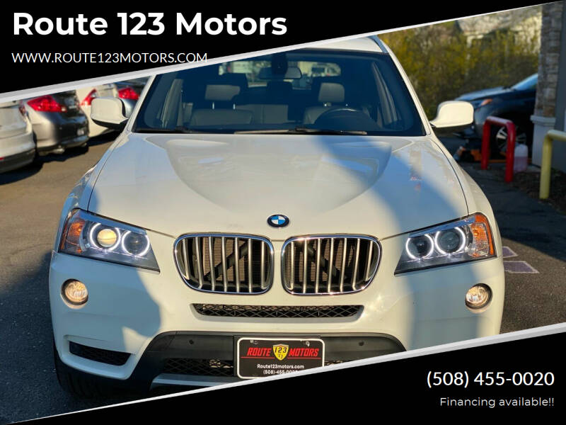 2012 BMW X3 for sale at Route 123 Motors in Norton MA