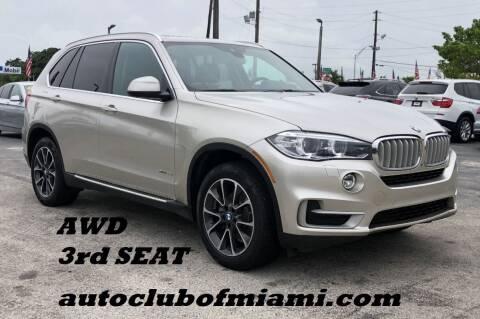 2016 BMW X5 for sale at AUTO CLUB OF MIAMI, INC in Miami FL