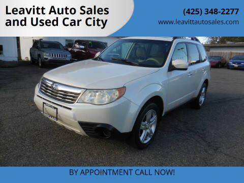 2010 Subaru Forester for sale at Leavitt Auto Sales and Used Car City in Everett WA