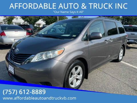 2011 Toyota Sienna for sale at AFFORDABLE AUTO & TRUCK INC in Virginia Beach VA