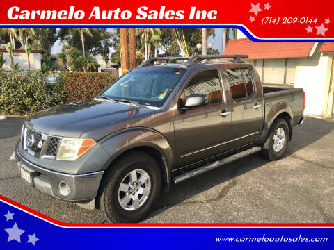 2008 Nissan Frontier for sale at Carmelo Auto Sales Inc in Orange CA