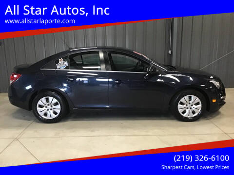2015 Chevrolet Cruze for sale at All Star Autos, Inc in La Porte IN