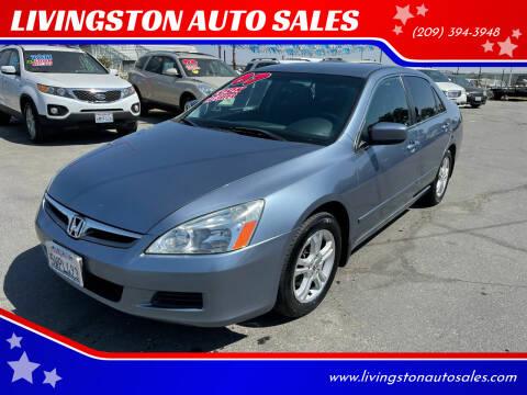 2007 Honda Accord for sale at LIVINGSTON AUTO SALES in Livingston CA