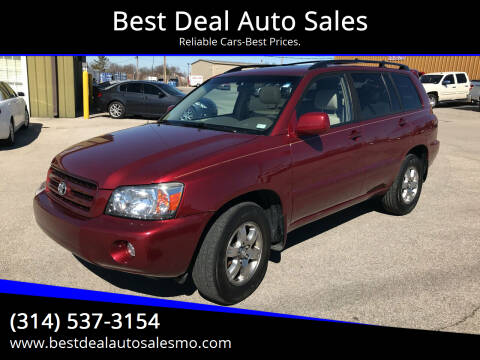 2007 Toyota Highlander for sale at Best Deal Auto Sales in Saint Charles MO