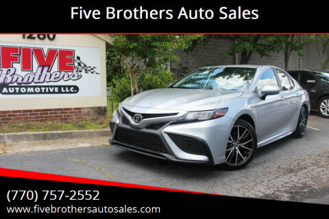 2021 Toyota Camry for sale at Five Brothers Auto Sales in Roswell GA