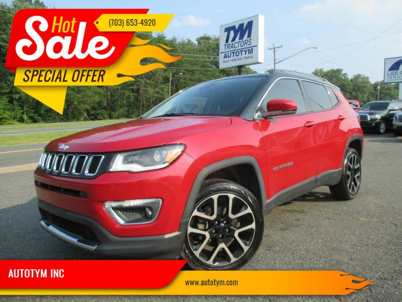 2017 Jeep Compass for sale at AUTOTYM INC in Fredericksburg VA