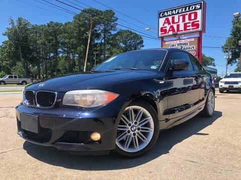 2013 BMW 1 Series for sale at Carafello's Auto Sales in Norfolk VA