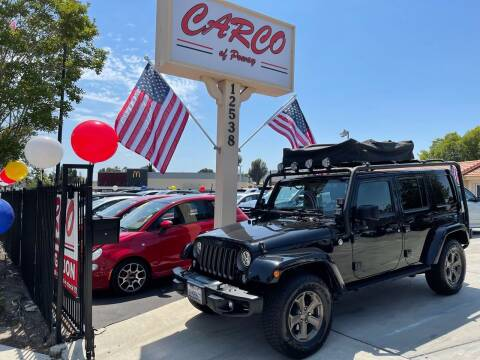 2018 Jeep Wrangler JK Unlimited for sale at CARCO SALES & FINANCE - CARCO OF POWAY in Poway CA