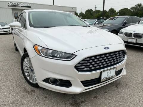 2016 Ford Fusion Hybrid for sale at KAYALAR MOTORS in Houston TX