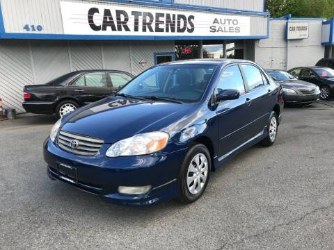 2003 Toyota Corolla for sale at Car Trends 2 in Renton WA