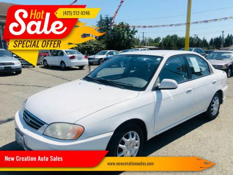 2002 Kia Spectra for sale at New Creation Auto Sales in Everett WA