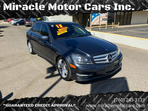 2013 Mercedes-Benz C-Class for sale at Miracle Motor Cars Inc. in Victorville CA