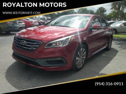 2015 Hyundai Sonata for sale at ROYALTON MOTORS in Plantation FL