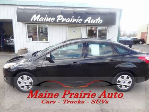 2012 Ford Focus for sale at Maine Prairie Auto INC in Saint Cloud MN