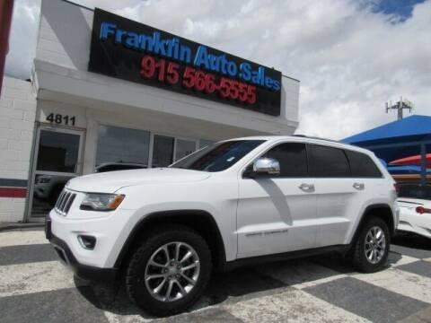 2015 Jeep Grand Cherokee for sale at Franklin Auto Sales in El Paso TX
