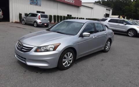 2012 Honda Accord for sale at Mathews Used Cars, Inc. in Crawford GA