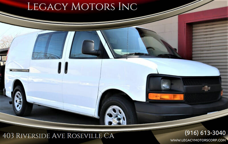 2012 Chevrolet Express Cargo for sale at Legacy Motors Inc in Roseville CA