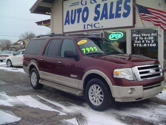 2007 Ford Expedition EL for sale at G & L Auto Sales Inc in Roseville MI
