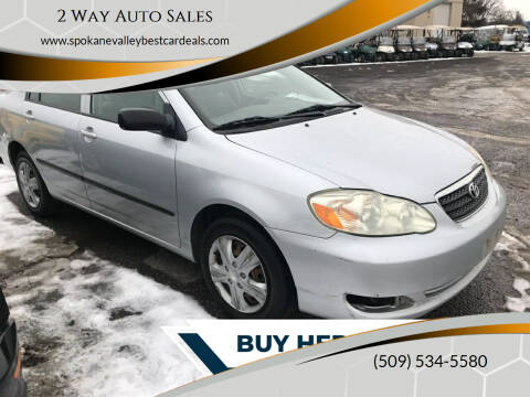 2006 Toyota Corolla for sale at 2 Way Auto Sales in Spokane Valley WA