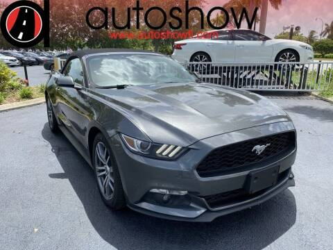 2017 Ford Mustang for sale at AUTOSHOW SALES & SERVICE in Plantation FL