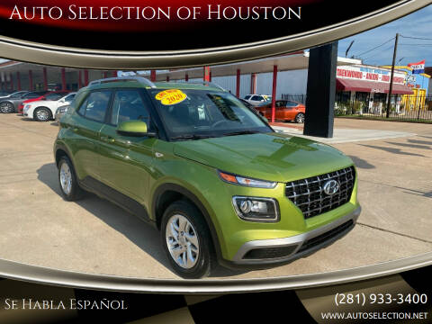 2020 Hyundai Venue for sale at Auto Selection of Houston in Houston TX