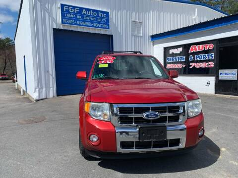 2010 Ford Escape for sale at F&F Auto Inc. in West Bridgewater MA