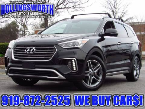 2017 Hyundai Santa Fe for sale at Hollingsworth Auto Sales in Raleigh NC