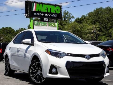 2015 Toyota Corolla for sale at Metro Auto Credit in Smyrna GA