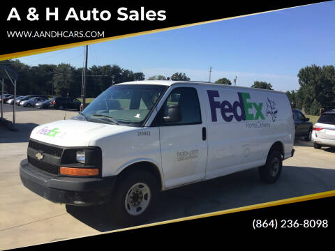 2011 Chevrolet Express Cargo for sale at A & H Auto Sales in Greenville SC