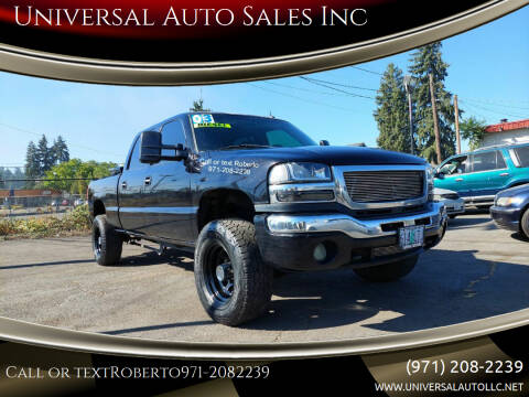 2003 GMC Sierra 2500HD for sale at Universal Auto Sales Inc in Salem OR
