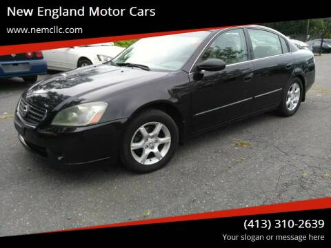 2005 Nissan Altima for sale at New England Motor Cars in Springfield MA